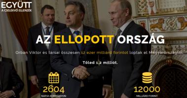 Ellopott ország: az Együtt korrupcióellenes vándorkiállítása Kaposváron