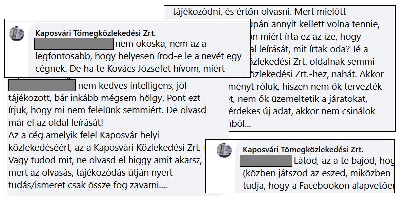 Szólíts a neveden: a kaposvári közlekedési cégre megszólalásig emlékeztető kamuprofil alázza az új menetrenddel elégedetlen kaposváriakat a Facebookon