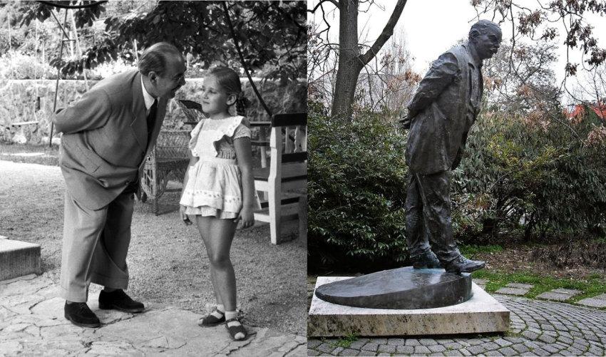 Sétáló öregúr, meghajtott derékkal, avagy így szövődnek legendák a kaposvári Nagy Imre-szobor körül